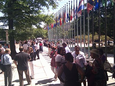The office of the Pan American Health Organization in Washington, D.C. was also evacuated.Image: Antonio Zugaldia.