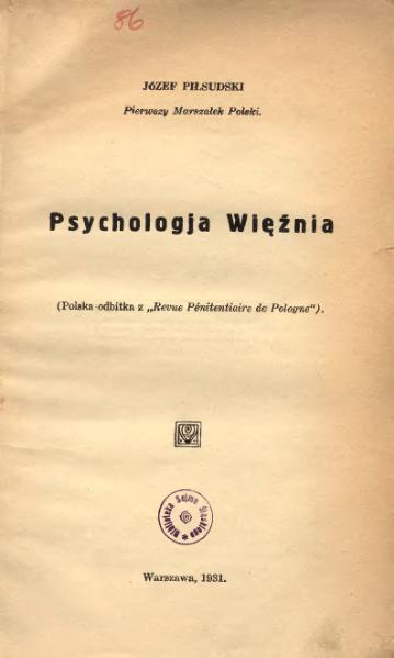 File:PL Józef Piłsudski-Psychologja Więźnia.djvu