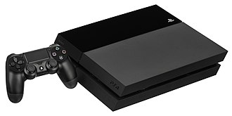 PlayStation - The PlayStation 4 with the DualShock 4 controller.