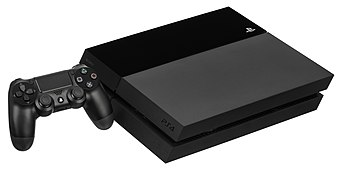 The PlayStation 4 console with its controller PS4-Console-wDS4.jpg
