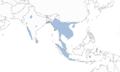 Painted bat (Kerivoula picta) range map.png