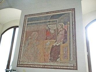 Palazzo Pretorio, Prato - Image: Palazzo Pretorio (Prato) Affresco con madonna sala 1