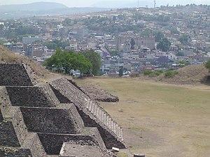 Tula de Allende - Image: Panorámica de la zona arqueologica de Tula