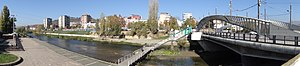 Panorama of Ibar River Bridge - Looking toward Serb Side of Town - Mitrovica - Kosovo.jpg