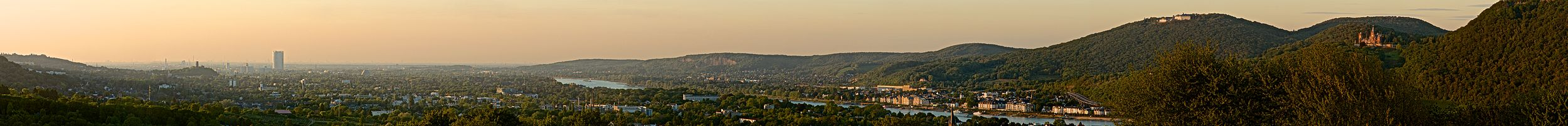 Panoramic view of Bonn from the Rodderberg
