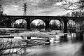 Panoramic Thomas Viaduct over the Patapsco River in Black and White.jpg