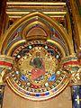 Paris (75), Sainte-Chapelle, chapelle basse, médaillon au revers de la façade 2.jpg