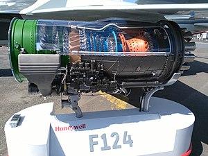 Honeywell/ITEC F124 - Honeywell F124 cutaway
