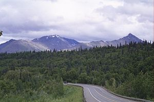 George Parks Highway - The Parks Highway, near Hurricane, Alaska.