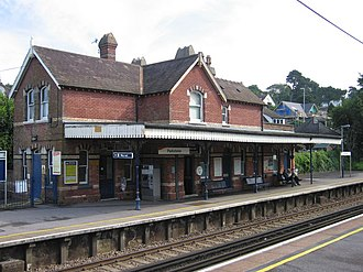 Parkstone railway station - Image: Parkstonerear