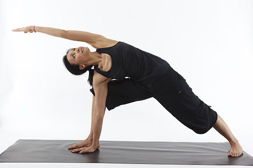Parsvakonasana Utthita B - Revolved Side Angle Pose B - with arm Support