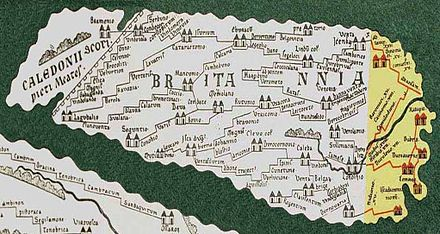 Britannia as shown on the Tabula Peutingeriana (copy from 1897) Part of Tabula Peutingeriana showing Britannia.jpg