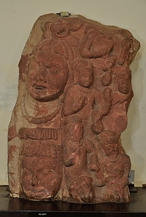 Rudras - Part of Vyomamandala Showing Rudras - Circa 5th Century CE, Katra Keshav Dev; currently at Mathura Museum.