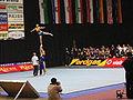 Partnerstunt auf der Deutschen Cheerleading Meisterschaft in der Erdgasarena Riesa 2005.jpg