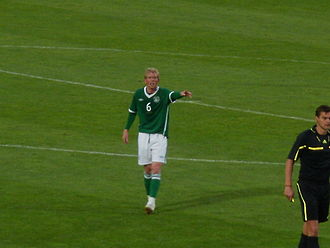 Paul Green (footballer, born 1983) - Green playing for Ireland against Algeria in May 2010 in which he scored his first international goal