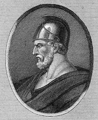 Pausanias (general) - Pausanias, 18th century print