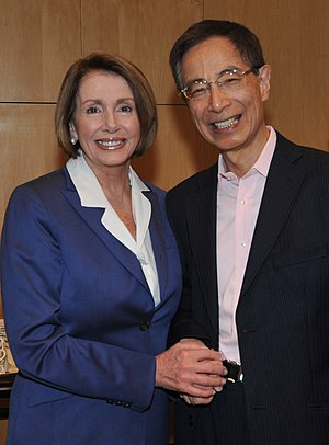 Martin Lee - Lee with US Speaker of the House Nancy Pelosi in 2009 to discuss the status of democracy in Hong Kong.