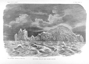 Île des Pingouins - 1874 sketch of the island by Dr Ladislaus Weinek
