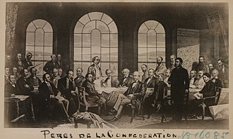 Quebec Conference, 1864 - The Quebec Conference in assembly at the Chateau Frontenac