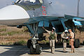 Performing checks on Sukhoi Su-34 at Latakia, Syria.jpg