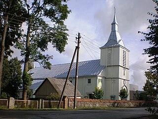 Pernarava Town in Aukštaitija, Lithuania