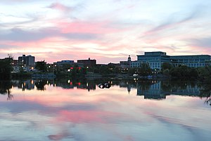 Peterborough, Ontario - Downtown Peterborough at dusk in June 2009