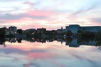 Peterborough, Ontario - Downtown Peterborough at dusk in June 2009