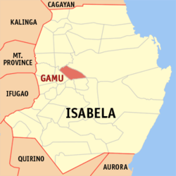 Map of Isabela with Gamu highlighted