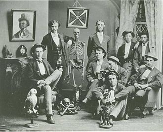 Washington & Jefferson College - Members of Phi Kappa Sigma pose for a chapter photo in the early 1870s.