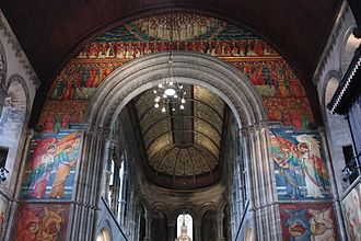 Catholic Apostolic Church - Phoebe Traquair's murals, Catholic Apostolic Church murals, Edinburgh (east end)