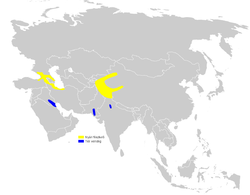 Phylloscopus sindianus distribution map.png