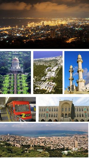 A collage of Haifa