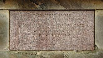 Picton Clock Tower - Image: Picton Clock inscription 3