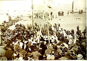 Comodoro Rivadavia Cathedral - Laying the foundation stone by Diocesan Bishop Nicolas Esandi.