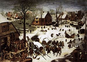 Musée des Beaux Arts (poem) - Bruegel,The Census at Bethlehem, 1566