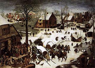 <i>The Census at Bethlehem</i> Painting by Pieter Bruegel the Elder