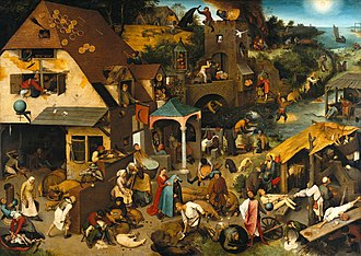 Netherlandish Proverbs - Image: Pieter Brueghel the Elder The Dutch Proverbs Google Art Project