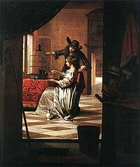 Couple avec perroquet