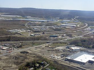 Pittston Township, Luzerne County, Pennsylvania - Aerial view of Pittston Township's growing industrial and commercial districts.