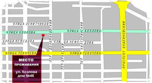 Схема расположения места