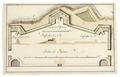 Plan och profil till befästning vid Skoklosters slott, 1700 cirka - Skoklosters slott - 99028.tif