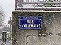 Plaque Rue Villemains - Le Perreux-sur-Marne (FR94) - 2021-01-16 - 1.jpg