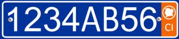vehicle registration plates of ivory coast wikipedia. Black Bedroom Furniture Sets. Home Design Ideas