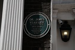 Plaque for james yearsley