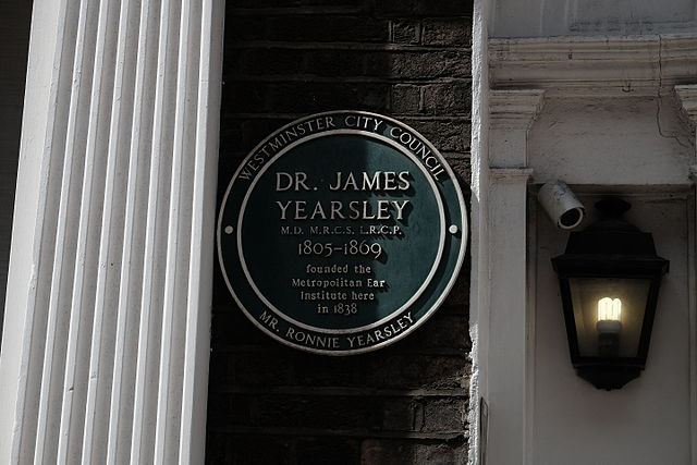 Photo of James Yearsley green plaque