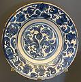 Plate with artichoke flower, Teruel, Spain, 18th century AD, ceramic - Museo Nacional de Artes Decorativas - Madrid, Spain - DSC08199.JPG