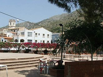 Sanet y Negrals - Image: Plaza cristo