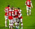 Podolski scores, 2014 FA Cup 4th rd, Arsenal vs Coventry.jpg