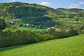 Pohled na obec od jihovýchodu, Ujčov, okres Žďár nad Sázavou.jpg