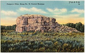 Pompey's Pillar, along No. 10, Central Montana (72432).jpg